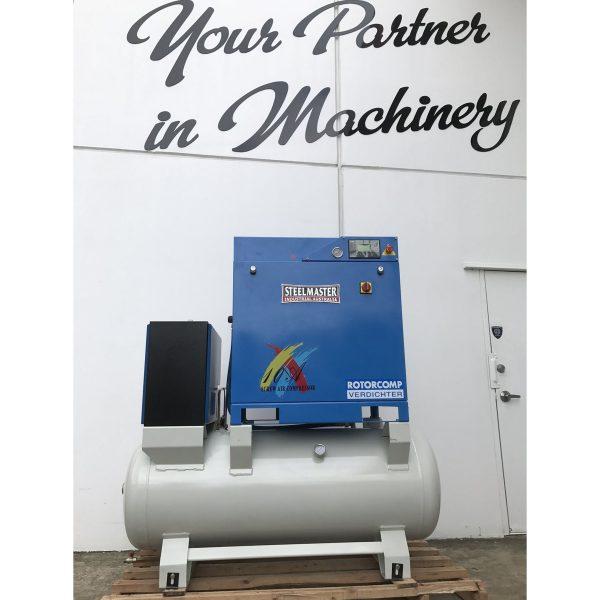 AIRMASTER Rotary Screw Air Compressor & Air Dryer  Model: 11MK2, 58 cfm  Capacity, 116 psi